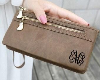 personalized womens wallet, monogram clutch, leather wallet, personalized wallet, personalized womens wallet, mothers day, monogram wallet