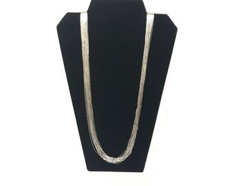 Liquid Sterling Silver 30 Strand Necklace