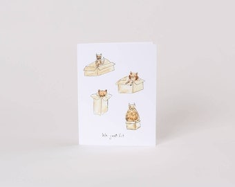 Funny Valentines Cat Card  // Funny Card // Cat Card // Cat in a bow