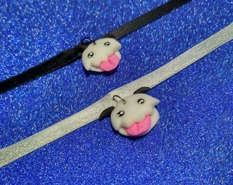 Poro League of Legends choker resin and glitter