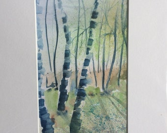 Woodland. An original watercolour by Susan Whatling