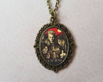 The Lost Boys Inspired Cameo Necklace / Kiefer Sutherland / Horror / 80s / Cult Classic / Corey Feldman