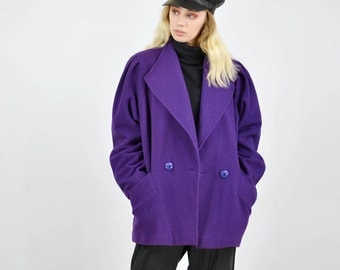 Vintage 80's Purple Wool Jacket