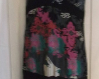 Lovely sleeveless Desiqual dress. Size 10-12.knee length.plunging neckline,jersey fabric