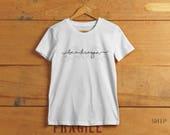 Sein ein Drachen T-shirt - inspiriert von Game of Thrones - Frauen Crew und v-neck T-shirt