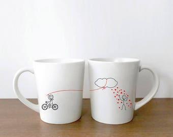Couples Mugs, Valentines Mug, His and Hers Mugs, Couples Gift Set, Valentines Day Gift for Him, Boyfriend Gift, Husband Gift, BoldLoft Mugs