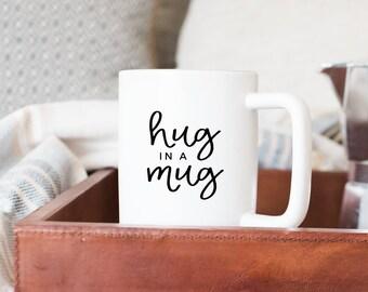 Hug In A Mug // Coffee Cup //  Coffee Mug // Funny Coffee Mug // Gift For Boss // Girl Boss Mug // Gift Idea // The Busy Bee
