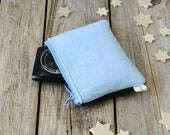 Felt mini make up pouch, Zipper device case, felt zipper pouch, coin purse, pouch wallet, card pouch, felt zipper pouch, bicolor zipper case