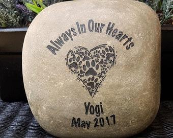 Pet Memorial - Pet Loss - Loss of Pet Gift - Pet Grave Marker - Pet Memorial Sign - Cat -Dog - Pet Lovers - In Memory Of A Pet - God Rocks