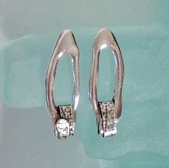 Long Dangle Silver Earrings Unique | Elegant Earrings Pierced | Sterling Silver Earrings | Metalsmith Jewelry | Everyday Earrings OOAK