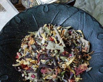 Spirit Guide Herbs, Witchcraft, Wicca, Witch, Herb Mix, Dried Herbs, Flower Petals, Apothecary, Herbs for Witches, Occult Supplies, Wicca