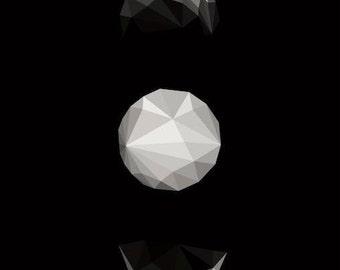 Geometric Moon Mat