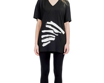 Black Tunic, Summer Shirt Dress, - TIGER?