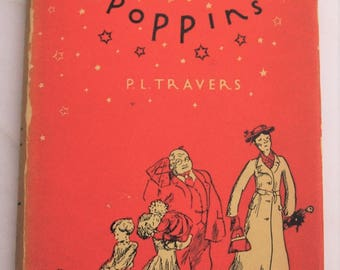 Mary Poppins P.L Travers  Vintage Hardcover Edition