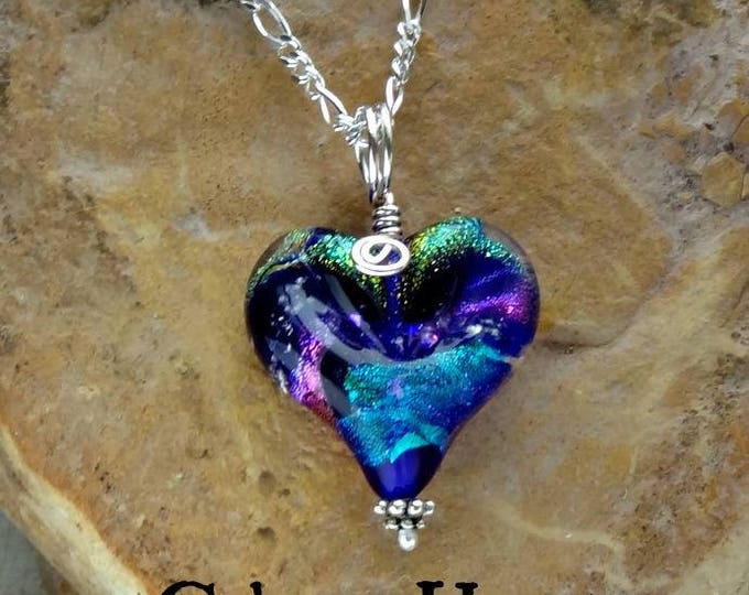 Ashes in Glass, Memorial Heart Necklace,Pet Memorials, Cremation Jewelry