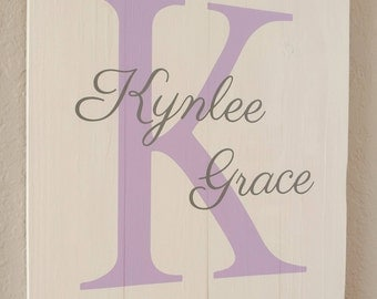 Personalized Baby Gift, Baby Name Wood Sign, Nursery Room Decor, Baby Gift, Nursery Signs, Baby Room Sign, Nursery Room Sign, Wood Sign
