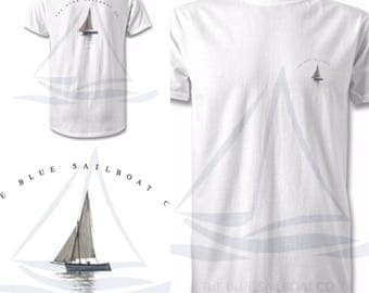 Nautical Edition SailBoat All Sizes T-Shirt, Harbour, Coastal Print, Nautical, Beach, Surf T-Shirt, By The Sea, All Sizes, Ocean Print