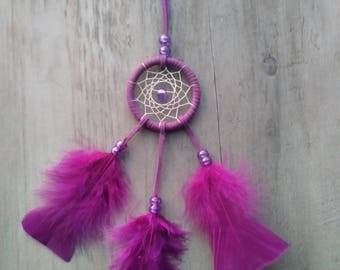 Handmade mini dream catcher Purple
