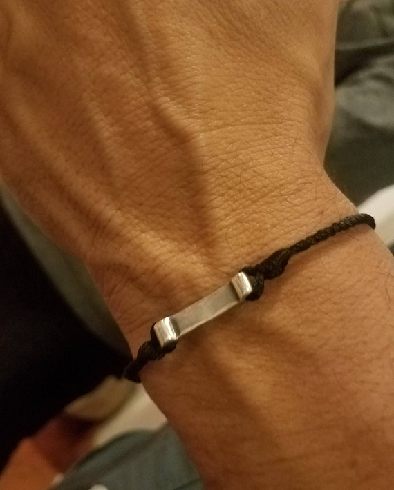 Tharros: Silver, custom fitted, Greek Cord Bracelet