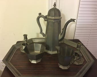 Pewter Gorham Tea Set