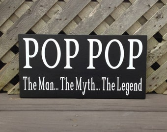 Pop pop the man the myth the legend gift for grandpa t shirt pop pop the man the myth the legend woodvinyl sign grandfather sciox Gallery