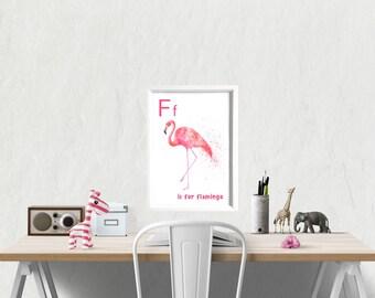 nursery art, animal prints for nursery, animal nursery, animal alphabet, educational poster, kids room prints, children prints, classroom