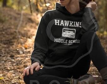 Hawkins Middle School AV Club Hoodie - Stranger Things Sweatshirt