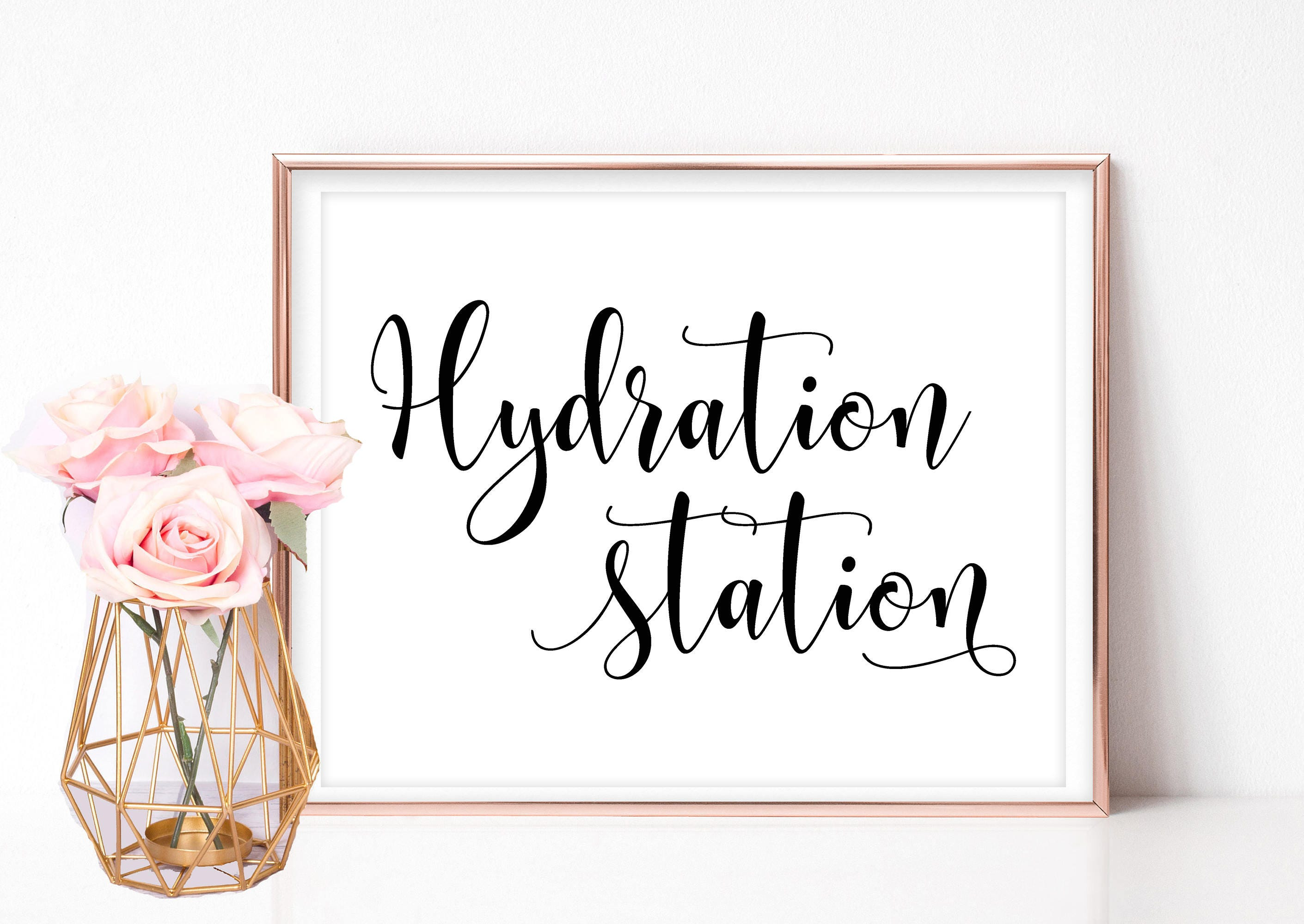 Hydration Station Sign Template Printable Wedding Bar Signs Party Beverages Table Decoration Signage 4x6 5x7 8x10