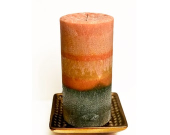 Organic Twilight in the Woods Pillar Candle-Hand-Crafted- Vegan Candles- Woodsy Decor- Rustic Decor-Gift Ideas-Eco-Friendly