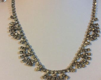 Vintage diamanté rhinestone necklace