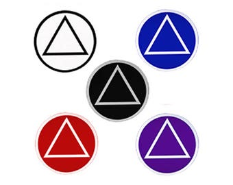 "10 Small 1-1/2"" Round AA Alcoholics Anonymous Stickers"