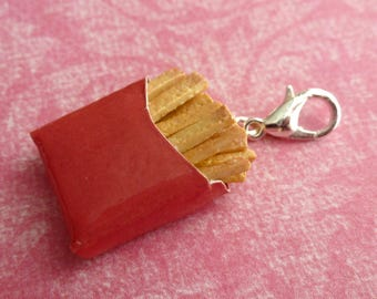 French Fries Miniature Food Jewelry Charms Polymer Clay Charms