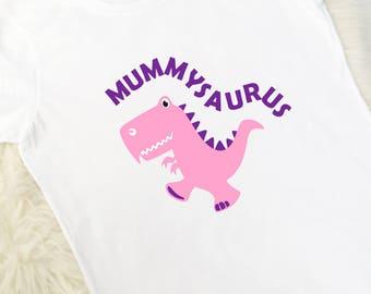 Ladies Mummysaurus T-Shirt, Dinosaur T-Shirt, Personalised T-Shirt, Birthday Gift, Ladies Clothing, UK
