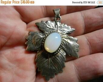 Summer Sale Vintage Alpaca Silver Maple Leaf Pendant