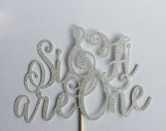 We are One, Two, Three, any number - cake topper - any number / year for anniversary and wedding cakes - personalised