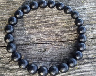 8mm  Matte Onyx Gemstone bead bracelet