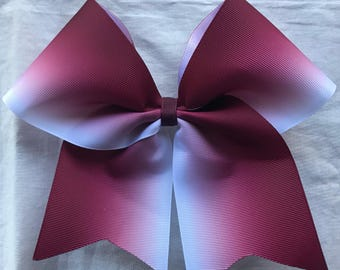 Maroon Ombre Bows/Ombre Cheer Bows/Ombre Softball Bows