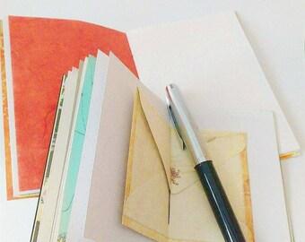 Midori Travelers Notebook Inserts - PASSPORT Size - Insert Refills - Ruled Dot Grid Blank - Art Journal Sketchbook Pastel Watercolor Cover