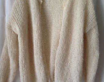 Loose alpaca and silk vest