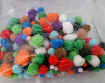 bag of 300 colors ponpons