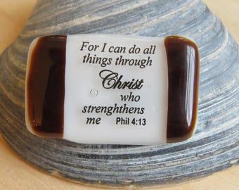 Fused Glass Prayer/Scripture Stone