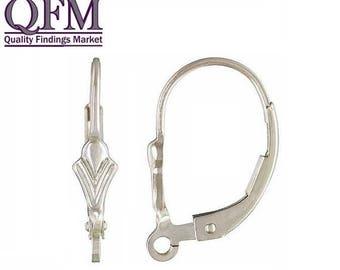 ON SALE 20 Pcs (10 pairs) Sterling Silver 925 Leverback Earrings Liz Flower Ear wire