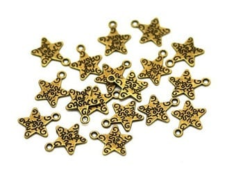 "Star charms 50 ""Just For You Bronze"