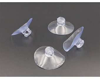 20 cups transparent supports small objects fimo 2.5 cm diameter