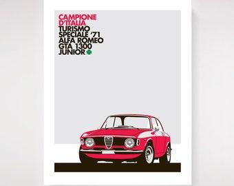1965 Alfa Romeo Giulia Sprint 1300 GTA print.