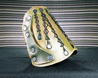 Legacy Bracer, Leather, Hand Made, Single Bracer, 10