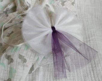Tulle Bow Hairband (3-6 Months) (Hmong Hmoob Inspired)