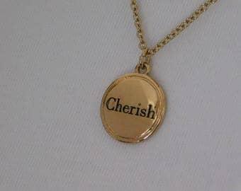 Cherish Pendant Necklace Earrings  Set
