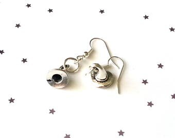 Witch hat earrings - halloween earrings - sterling silver earrings - 5 earring options available - gift for her