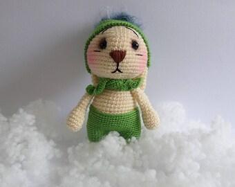 amigurumi bunny,crocheted toy.bunny,gift idea,soft  toy
